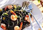 Паста Fattora з чорнилом каракатиці «Spaghetti al nero di seppia» 500 г, фото 4