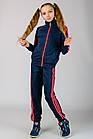 """Подростковый спортивный костюм  """"Спорт-3"""" (синий+розовый), фото 2"""