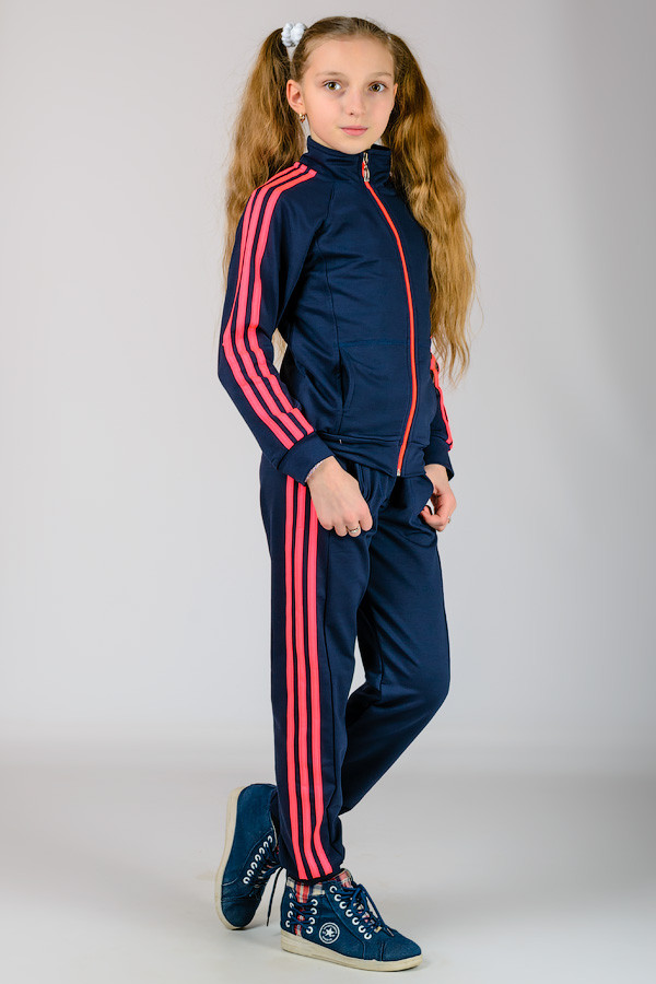 """Подростковый спортивный костюм  """"Спорт-3"""" (синий+розовый) - TM Golfstream в Харькове"""