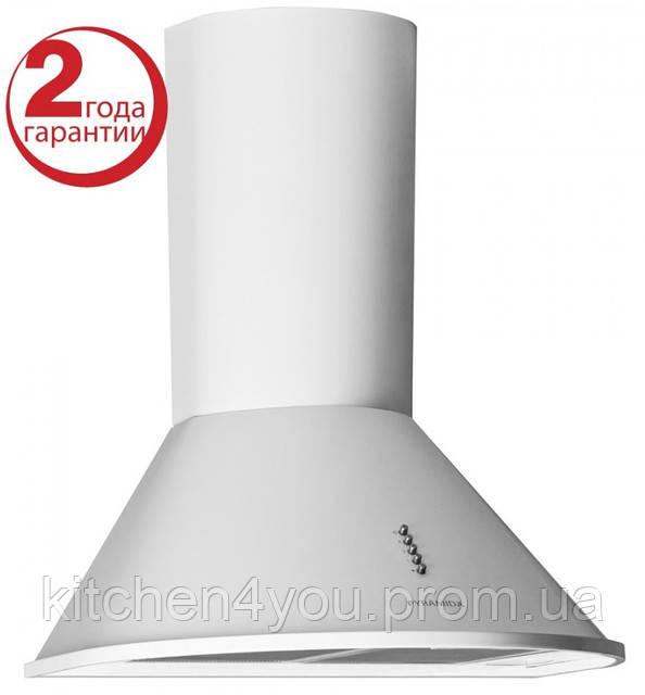 Pyramida BR 60/A (600 мм.) цвет белая эмаль, купольная, кухонная вытяжка