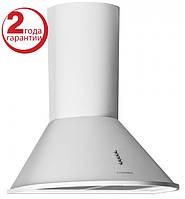 Pyramida BR 60/A (600 мм.) цвет белая эмаль, купольная, кухонная вытяжка, фото 1