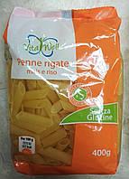 Безглютеновые макароны из кукурузной и рисовой муки Vita Well Penne Rigate, 400 г.