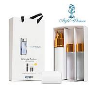 Набор мини парфюмерии Kenzo L`eau par Kenzo pour femme Ле Пар Кензо пур Фем с феромонами3*15мл