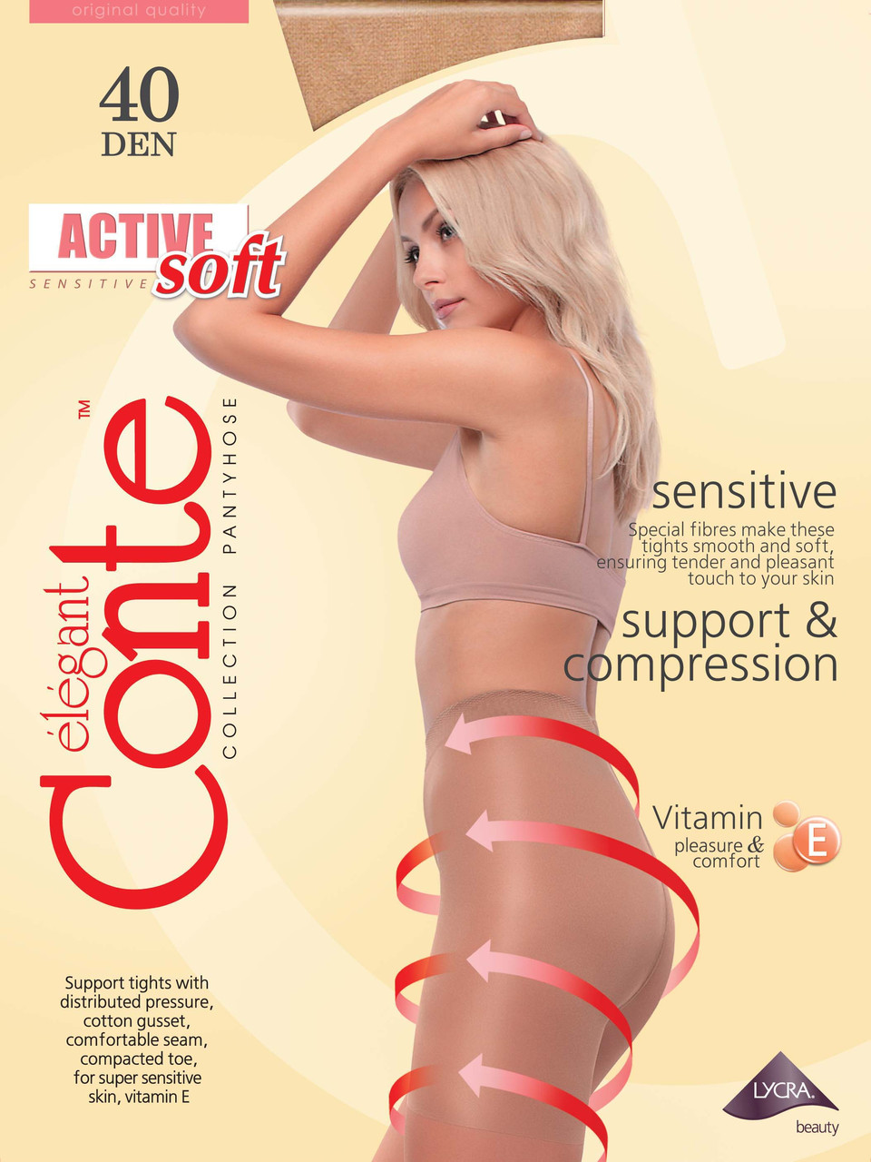 Колготки с утяжкой Conte Active Soft 40 den