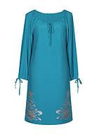 новинка! Платье Барвинок - свободный крой,длинный рукав