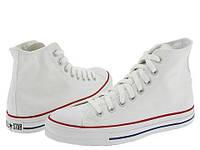 Белые высокие мужские кеды Converse (Конверс) All Star