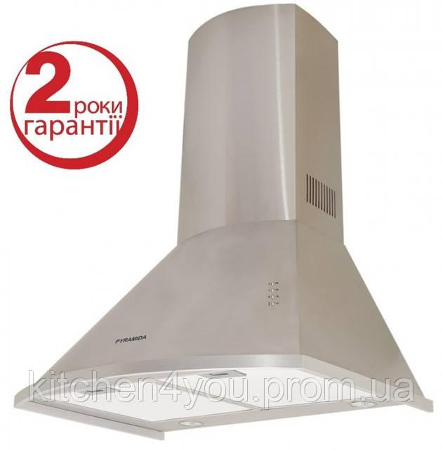 Pyramida KM 60 inox (600 мм.) купольная кухонная вытяжка, полированная нержавеющая сталь