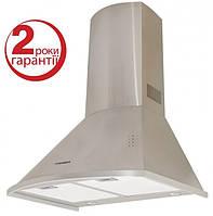 Pyramida KM 60 inox (600 мм.) купольная кухонная вытяжка, полированная нержавеющая сталь, фото 1