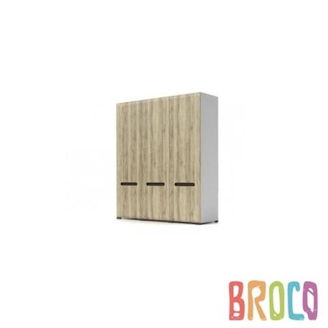Трехдверный шкаф BRW Azteca SZF3D/21/18 дуб санремо/белый