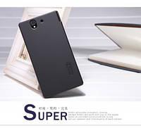 Чехол Nillkin Shiny для Sony Xperia Z L36i C6602 чёрный (+ пленка)