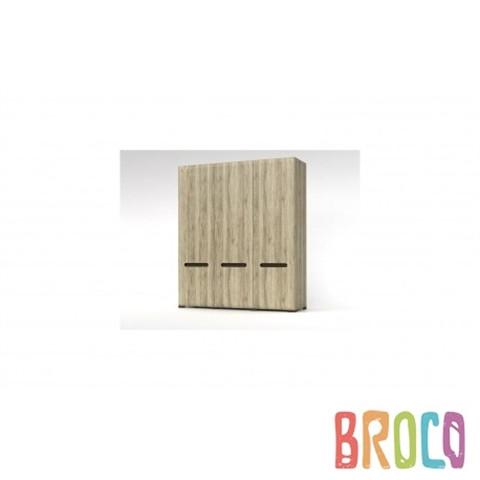 Трехдверный шкаф BRW Azteca SZF3D/21/18 дуб санремо