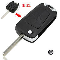 Ключ выкидной Opel 2 кнопки HU100, фото 1