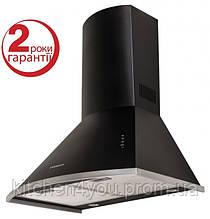 Pyramida KM 60 black (600 мм.) купольная кухонная вытяжка, черная эмаль