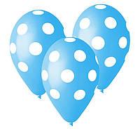 """Воздушный шар Голубой в горошек 14 """""""
