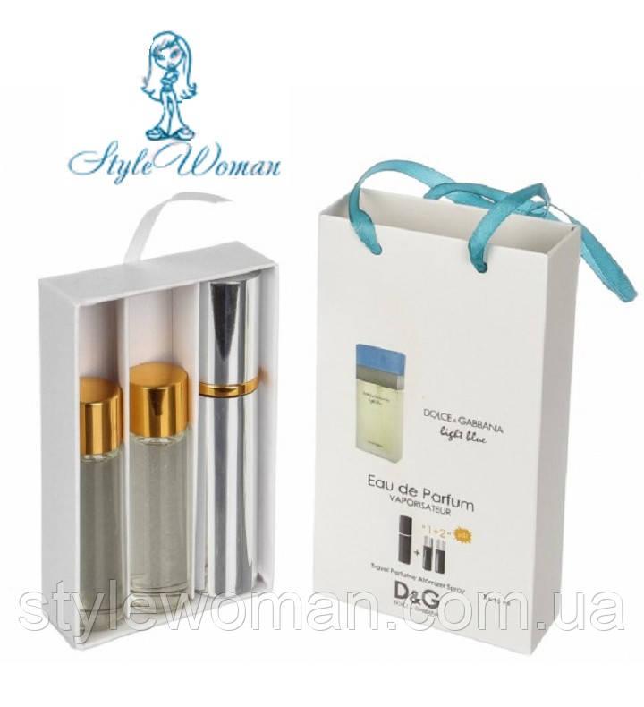 Набор мини парфюмерии Dolce&Gabbana Light Blue Дольче Габбана Лайт Блу с феромонами3*15мл Реплика