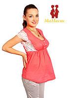Блуза с кружевом для беременной