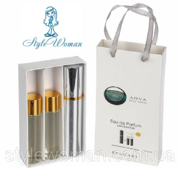 Набор мужской мини парфюмерии  Булгари Аква пур Хом с феромонами3*15мл Реплика