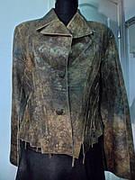 Пиджак из натуральной кожи длина 55 см 48р ОГ-98 ОБ-98