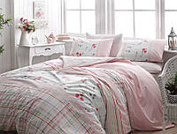 TAC Евро постельное бельё ранфорс Arlene pink