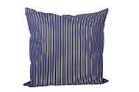 Подушка декоративная синяя в полоску