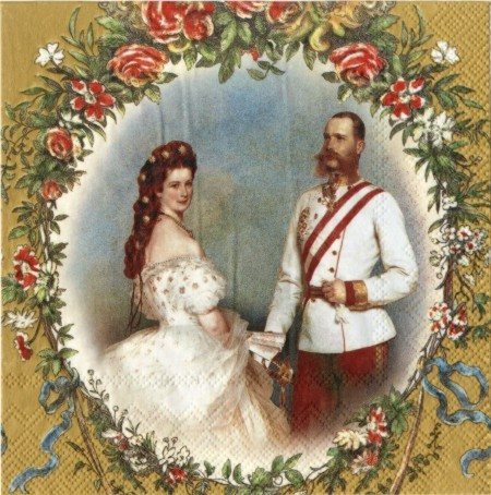 "Салфетки для декупажа ""Сессилия и Франц"" золото 33*33 см №164"