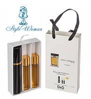 Набор мужской мини парфюмерии  Дольче Габбана Зэ Ван Фо Мэн с феромонами3*15мл Реплика