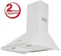 Pyramida N 60 (600 мм.) цвет белая эмаль, купольная, кухонная вытяжка, фото 1