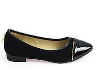 Женские балетки, лодочки туфли , туфли, на плоской подошве от производителя  размер 38-40