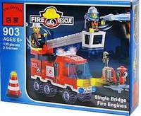 Конструктор BRICK 903 Пожарная тревога, 130 дет, в кор-ке, 18-14-4,5см 62862 Ч