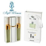 Набор мужской мини парфюмерии Lacoste Essential Лакост Эссенциал с феромонами3*15мл