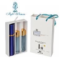 Набор мужской мини парфюмерии Lacoste Essential Sport Pour Homme Лакост Эссенциал Спорт Пу с феромонами3*15мл