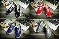Стильные кеды Vans. Красивые кеды унисекс. Удобные мокасины. Молодежная обувь. Спортивная обувь. КЕ604