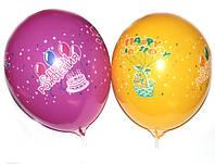 """Воздушные шары Gemar GD90, расцветка: Пастель """"C днем Рождения"""" ассорти, Диаметр 26 см, 100 шт."""