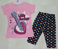 "Костюм летний ""Little Rocker"" на девочку 1,2,3 года."