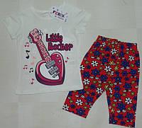 "Костюм летний ""Little Rocker"" на девочку 1,2,3 года Турция"