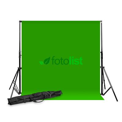 Комплект: Фон тканевой зеленый 3,0х3,0 м (Хромакей) + Ворота Arsenal ARS-901 + сумка