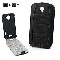 Brum Premium Кожаный чехол для HTC One X (s720e) (No.32 black), фото 1