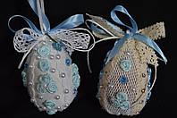 """Кофейная игрушка , украшение для корзины """"Яйцо с кружевом"""",95/85,12 см (ручная работа)"""