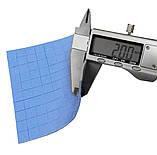 Термопрокладка СР 2,0 мм 10х10мм высечка синяя высечка термоинтерфейс для ноутбука, фото 3
