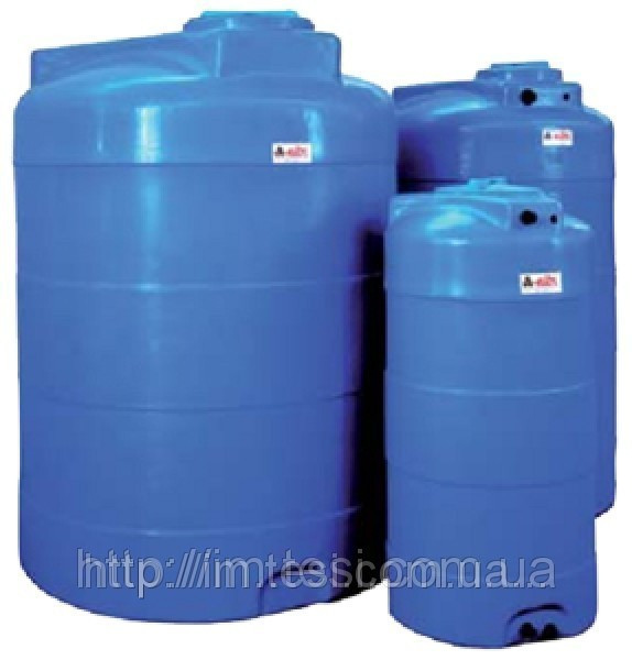 Накопительный бак для воды и других жидкостей ELBI CV 3000, емкость 3000л, круглый вертикальный