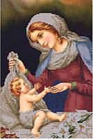 Схема для вышивания бисером Мария и младенец Иисус КМИ 4030