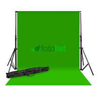 Комплект: Фон тканевой зеленый 2,7х5,0 м (Хромакей) + Ворота Arsenal ARS-901 + сумка