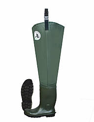 Забродные ботинки. Сапоги wodery резиновые мужские высокие для рыбалки Lemigo Польша