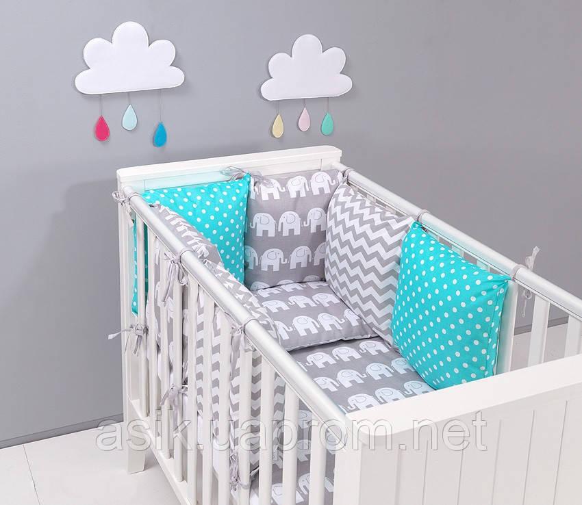 Набір дитячої постелі з модульної охранкою №4