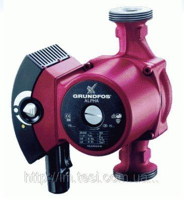 Циркуляционный насос Grundfos, ALPHA 25-60, 0,09 кВт