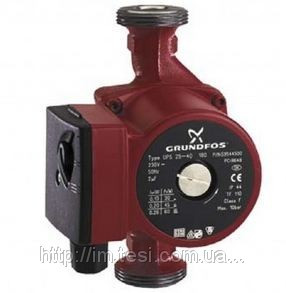 Циркуляционный насос Grundfos, UPS 25-50 180, 0,05 кВт