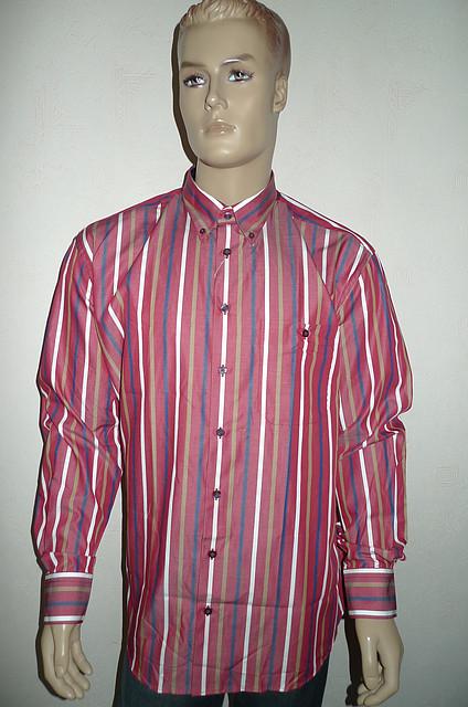 Мужская красная хлопковая рубашка