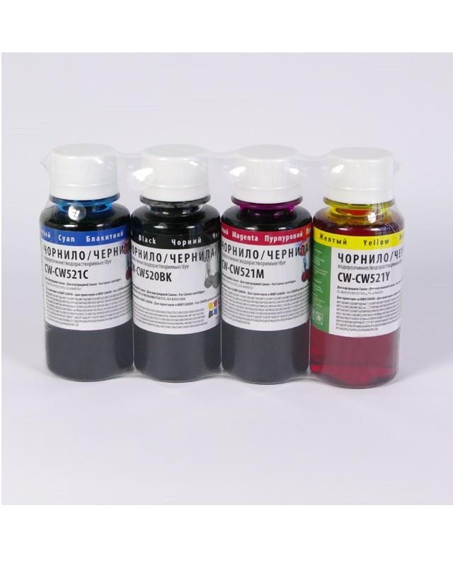 Набор водорастворимых чернил ColorWay CW-CW520 / CW521SET C / M / Y / BK (4x200 ml) (CW-CW520 / CW521SET02) (С - Модный Магазин в Хмельницком