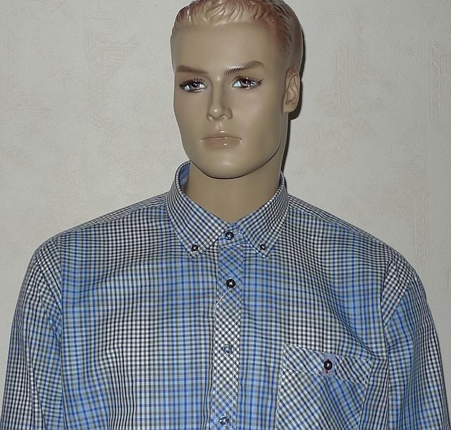 Рубашка мужская  большой размер 100% хлопок
