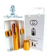Набор мужской мини парфюмерии Gucci Guilty pour homme Гуччи Гилти Пур Хом с феромонами3*15мл Реплика